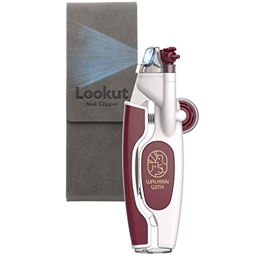 WALKINNWITH LOOKUT Premium Pet Nail Clippers with Guide Light