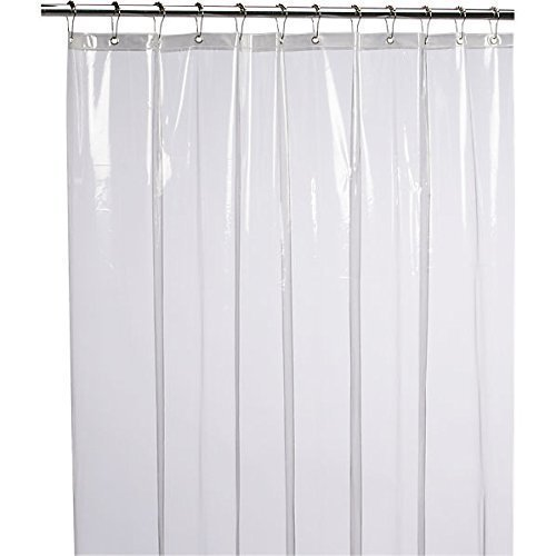 Our #1 Pick is the LiBa Mildew Resistant Antimicrobial PEVA 8G Shower Curtain Liner