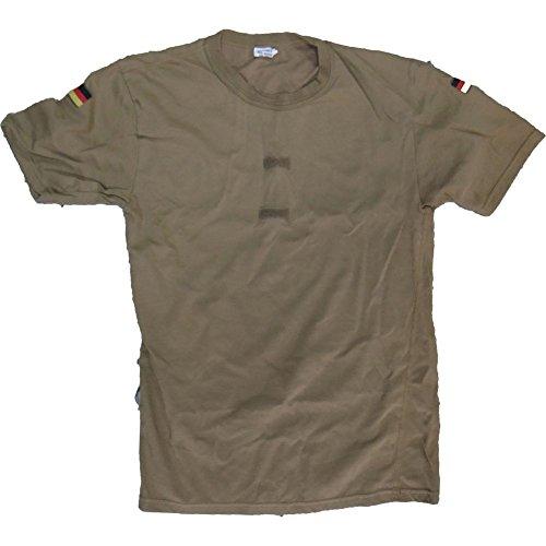 Armeeverkauf Originales Bundeswehr BW Tropen T-Shirt ISAF Klettflächen Fahnen Gr.6