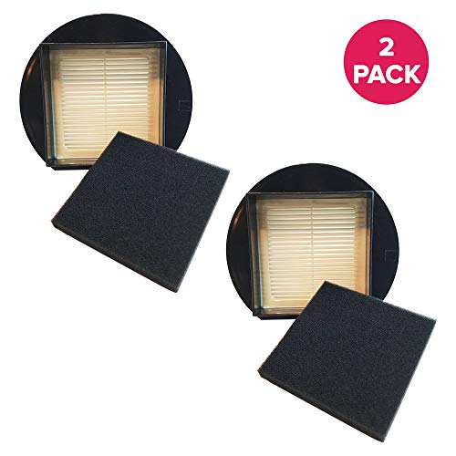 Crucial Vacuum Replacement Vacuum Filter - Compatible with Dirt Devil Part # 1LY2108000 & 1-LY2108-000 and Dirt Devil F27 HEPA Style Filter & Foam Pre-Filter Models, Vacs - Home or Office US (2 Pack)
