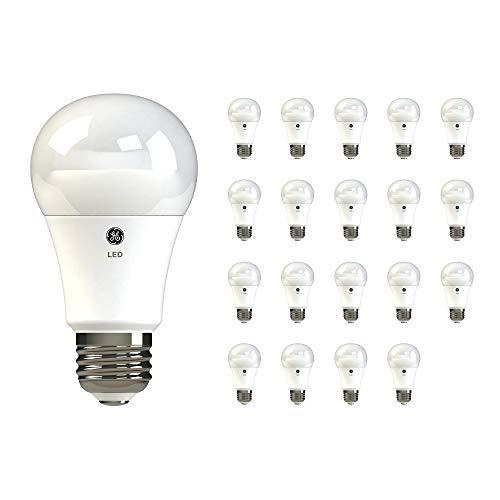 GE Dimmable LED Light Bulbs, A19 General Purpose (60 Watt Replacement LED Light Bulbs), 800 Lumen, Medium Base Light Bulbs, Daylight, 20-Pack LED Bulbs