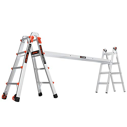Little Giant Ladder Systems 15417-001 17-Foot Velocity Ladder, Feet with Wheels