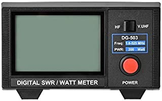 Medidor digital de SWR/vatios para radio bidireccional,VHF/UHF/HF SWR/Watt Tester con pantalla LCD retroiluminada de 3.5 p...