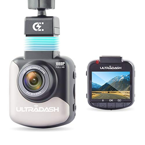UltraDash Dash Cam, Magnetic Charging Mount, HDR High-end Night Image Sensor, 6 Layers Glass F1.8 140 Degree Wide Angle Lens, G-Sensor, 2 Inch LCD, Super Capacitor, Loop Recording