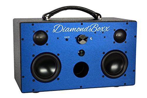 DiamondBoxx Model M Blue - Wireless Bluetooth Speaker Powerful Loud...