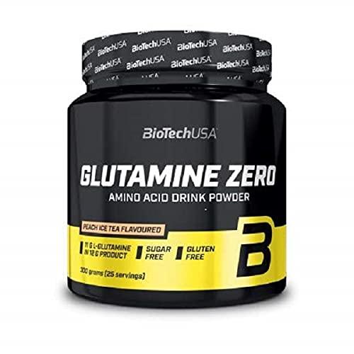 BioTech USA IAF00094647 Glutamine Zero, 300 g, Tè alla Pesca