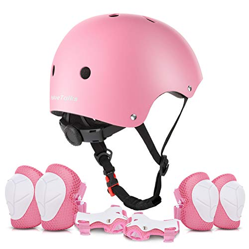 ValueTalks Schonerset Kinder Protektoren Schützer inliner Schutzausrüstung Kinder Knieschoner Set mit Helm für inliner Skateboard Fahrrad Rollschuh