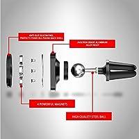 電話マウント ブラケット、360 度回転エア ベント GPS ホルダー、GPS ナビゲーター用ミニ タブレット用(black)