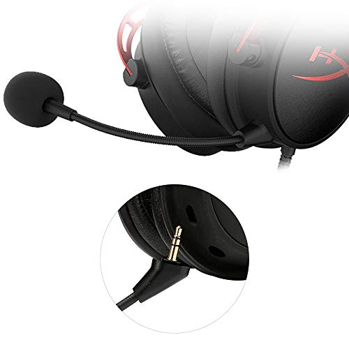 Ninge Replacement Mic-3.5mm for HyperX Cloud Alpha CloudX Core Game Microphone Boom - No Fit for HyperX CloudX I&II Core Cloud Sliver Gaming Headset - Black