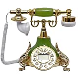 Living Equipment Classic Old Fashioned Telephone Resin Metal Landline Retro Style Fixed Telephone Home Decoration Ornaments