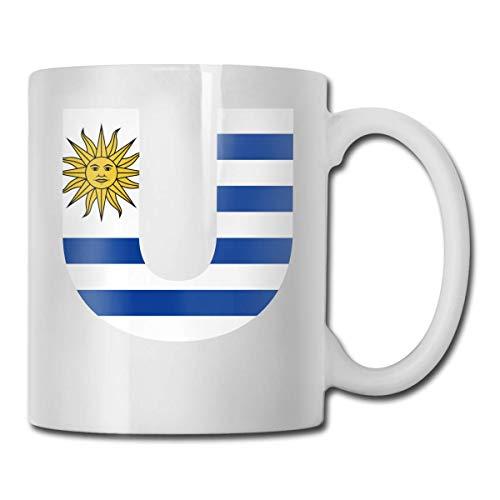 Taza de café con diseño de bandera de Uruguay
