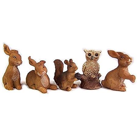 Unbekannt Krippenzubeh/ör Hasen H/öhe 1,3cm geeignet f/ür 5-7cm Figuren