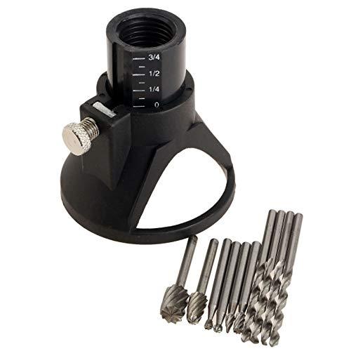 Kit di accessori per trapano rotativo multi utensile con guida di taglio HSS per fresa Dremel, kit di fissaggio per taglio controllato, set da 11