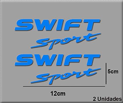 Ecoshirt - H1-927S-QWR0 - Swift R23 - Autocollants en vinyle pour voiture, sport, course - Bleu