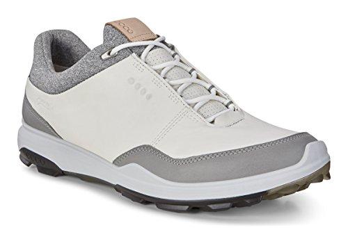 ECCO Men's Biom Hybrid 3 Gore-Tex Golf Shoe, White/Black Yak Leather, 10 M US