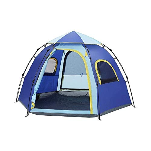 SQQSLZY Tent 5-6 Person Camping Tent, Waterproof and Windproof Ultralight Backpack Tent, can be Installed Immediately, Suitable for Hiking, Camping, Outdoor