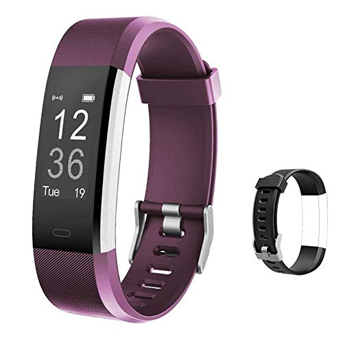 Lintelek Fitness Tracker - Activity Tracker with Heart Rate Monitor and Free Band, Smart Fitness Watch with Sleep Monitor, Step, Calorie Counter, Pedometer Watch for Kids, Women, Men and Gift