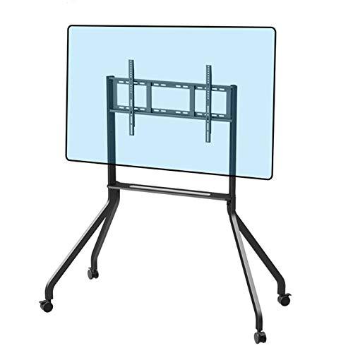Soporte Giratorio de Suelo para,Soporte Giratorio Regulable en Altura para Pantalla Plana LCD LED de 42-65'de Varios televisores de Marca, Espacio de Almacenamiento, máximo VESA600X400MM, Negro