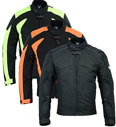 BULLDT Motorradjacke Cordura Textilien kurze Jacke Schwarz, Größe:60/4XL