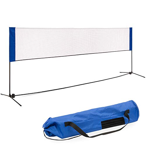 Best Choice Products 12.5ft Portable Freestanding Indoor/Outdoor Net for Beach, Volleyball, Tennis, Badminton w/Carrying Case