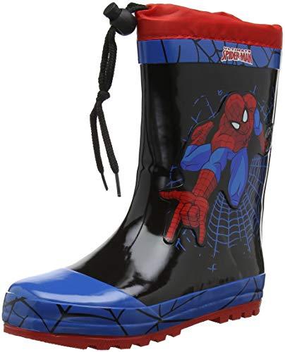 Spiderman SP004526, Botte de Pluie Garçon Fille, Bleu C Blue Black Red, 24 EU