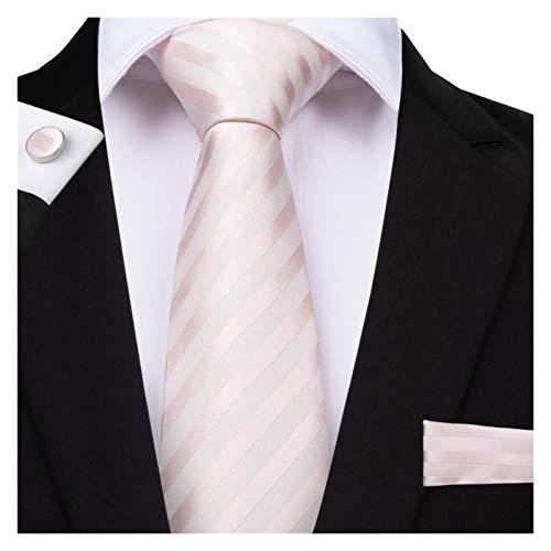 GTUQ Corbata de hombre para hombre, color rosa melocotón, corbata de boda sólida, para hombre, conjunto de corbata para boda (color SJT 7004)