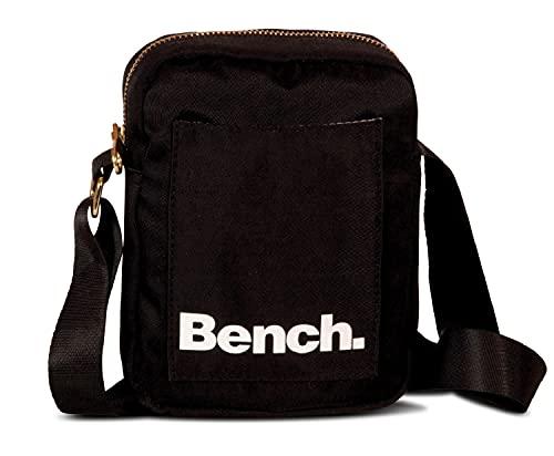 Bench City Girls Damen und Herren Mini Bag Umhängetasche Tasche Handtasche Schultertasche Crossbody-Tasche, schwarz, 19 x 14 x 5 cm