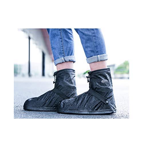 LIUFS Schuhüberzug Verdickte Gummiboden Verschleißfeste/Regensichere Wiederverwendbare Herren/Damen Reiten wasserdichte und rutschfeste Schuhüberzug Regenstiefel