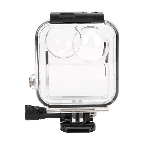 Oumij1 Carcasa Impermeable, Kit de Carcasa Resistente al Agua con Cámara Anti-arañazos con Película de Vidrio Templado para GoPro MAX Resistente al Desgaste y a los Arañazos Cubierta Protectora