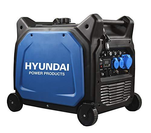 HYUNDAI Inverter-Generator HY6500SEi D (Benzin Generator, Inverter Stromerzeuger mit 6.5 kW Maximalleistung, Notstromaggregat, Stromaggregat)