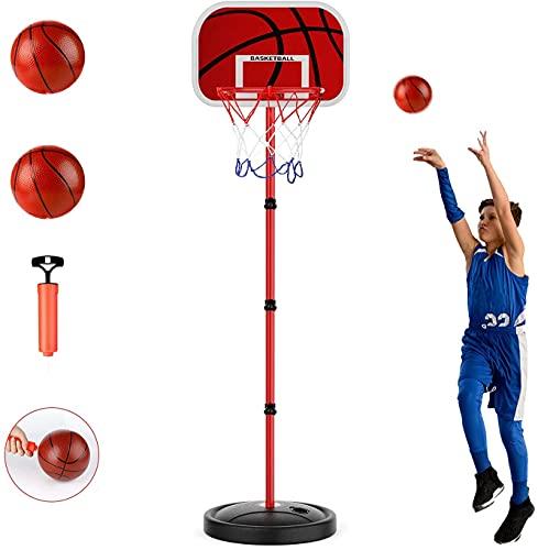 Basketballkörbe Kinder, zinuo 170CM Basketballständer Höhenverstellbar basketballkorb Tragbar Baby Dunking...