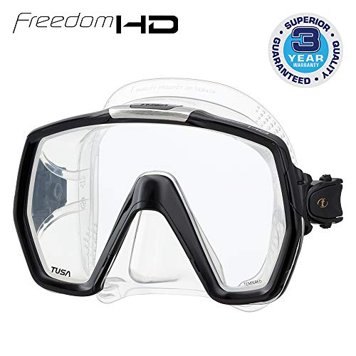 TUSA M-1001 Freedom HD Scuba Diving Mask, Black