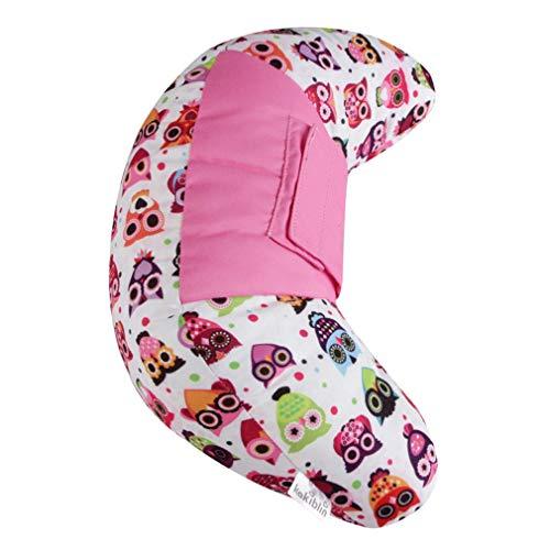 XIUHUA Cinturón de Seguridad para niños Cinturón de Seguridad Cuello para Dormir Cinturón de Asiento Cinturón de Asiento Almohadilla Hombro Siesta Pillow Protector Almohada de Viaje (Color : Pink)
