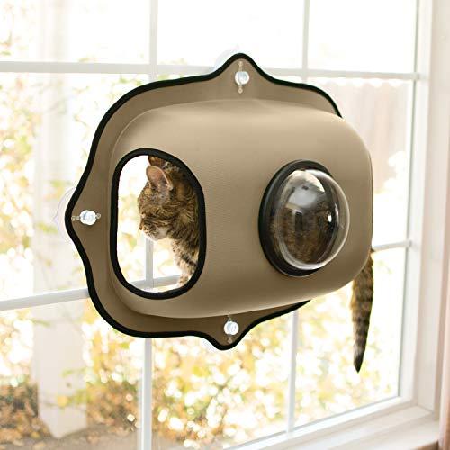 KH 779171 EZ Easy Window Mount Bubble Pod, Katzenfensterbett mit Bullauge als Sichtfenster