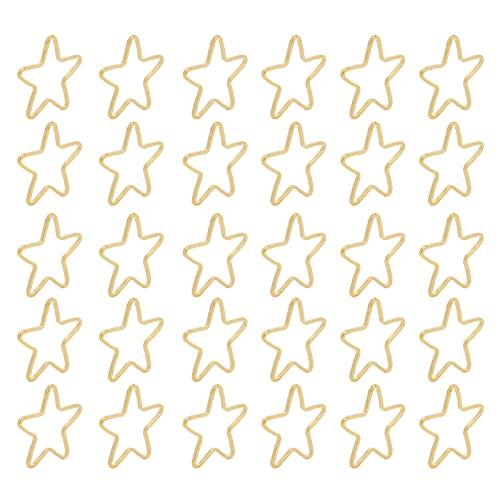 Colgantes de Molde de Marco en Blanco, Bisel Abierto Colgantes Colgantes Moldes para hallazgos de joyería DIY Colgantes de Molde Hueco para Amigos para Navidad(Oro, Estrella de Cinco Puntas)