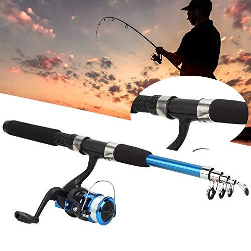 Zerone - Juego de cañas de pescar para principiantes, ligero y portátil,...