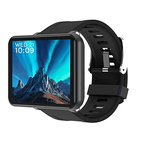 "ZZJ Smart Watch Männer Frauen 4G Smartwatch Android 7.1 5MP Kamera 2.86"" 2700 Battery Smart Watch GPS Fitness-Armband,Schwarz"