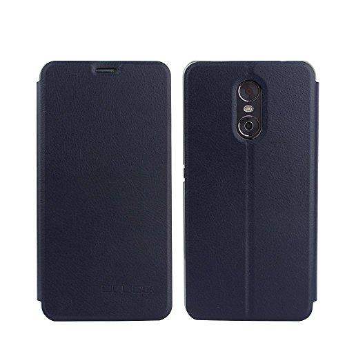 Tasche für Ulefone Gemini Hülle, Ycloud PU Ledertasche Metal Smartphone Flip Cover Hülle Handyhülle mit Stand Function Marineblau