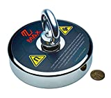 MaxMagnets Fishing Magnet 1000 LB up to 1300 LBS Pulling Force Super Strong Neodymium with Eyebolt