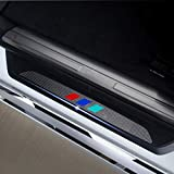 Compatible con 630i 645ci 650i M6 E63 E64 M Estilo Protectores de Umbral de la Puerta del Coche 4D Vinilo Fibra de Carbono Adhesiva Pegatinas 4 Piezas