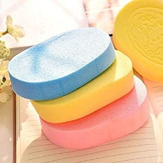 St. Lun Seaweed Cleansing Puff,wash Face Sponge,makeup Sponge Puff, Cleansing Face Puff,wash Face Tool,shower (Color : Ran...
