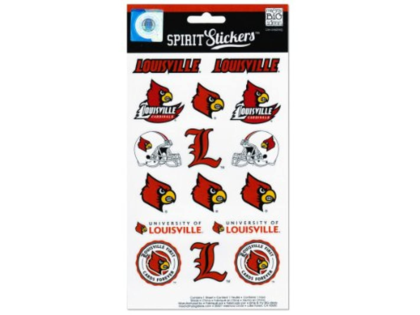 me & my BIG ideas Officially Licensed NCAA Spirit Stickers, Louisville