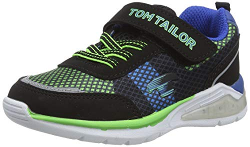 TOM TAILOR Unisex-Kinder 8070101 Cross-Trainer, Mehrfarbig (Black-Lime-Royal 02415), 29 EU
