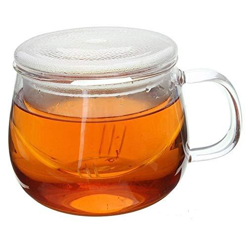 Home+ Vasos de Whisky, Durable 3 en 1 Sistema 320ml Claro Resistente al Calor for Preparar té café Taza con té Infuser Filtro Tapa Uso Ministerio del Interior por