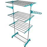 Completo tendedero de tres niveles Beldray® LA023773TQ, espacio de secado de 15 metros, capacidad para 15 kg