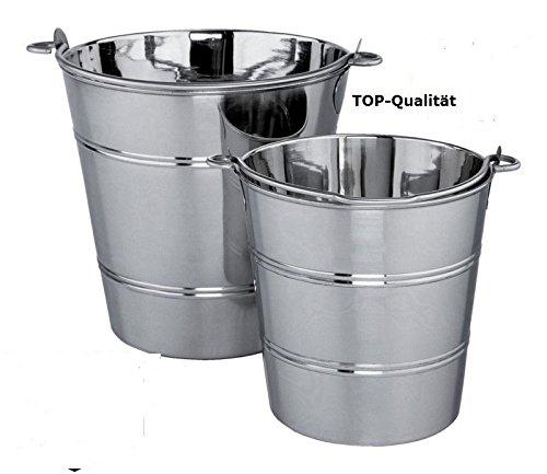 Edelstahleimer 10 Liter Eimer aus Edelstahl