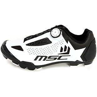 MSC Bikes zaeroxcwh Cycling Shoes, White, 45