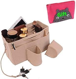 Felt Purse Organizer, Purse Organizer, Handbag Organizer.One Free Felt Zipper Purse(7.8