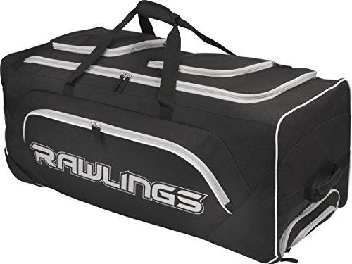 Rawlings Yadi Wheeled Catcher's Bag, Black