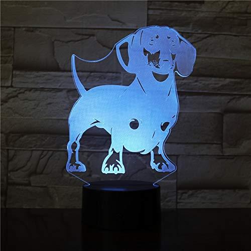 Schnauzer Dog Breed Portrait LED Night Light Pet Animals Rock Gesture Decoration Color Change Color Table Lamp Gift